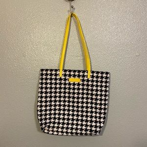 Vera Bradley Black and White Herringbone Bag